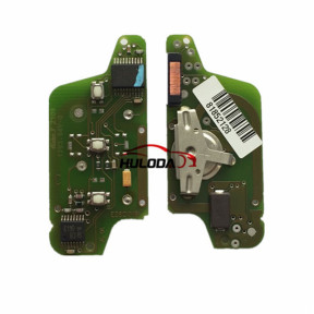 Original For Peugeot ASK 3 button flip remote control with 433Mhz PCF7941 Chip for 307&407 Blade ASK Model