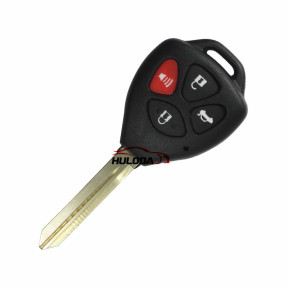 For Toyota Carola 3+1 button Remote key blank  with red panic with TOY47 blade  Without Logo