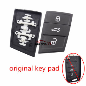 For VW original golf 7 3 button remote key pad