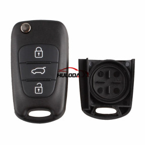 For KIA 3 button flip remote key blank with Left Blade