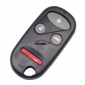 For Honda 3+1 button remote key blank with Red Panic (Without Logo) (With Battery Place)