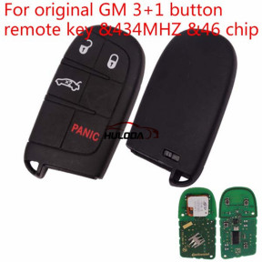 original GM 3+1 button remote key with 434MHZ with 46 chip with logo