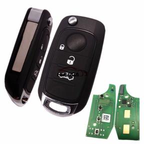 For Original Fiat Egea 500X tipo 3 button Flip remote key 4A HITAG AES 433mhz SIP22 blade