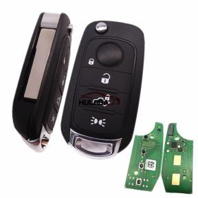 For Original Fiat Egea 500X tipo 4 button Flip remote key 4A HITAG AES 433mhz SIP22 blade