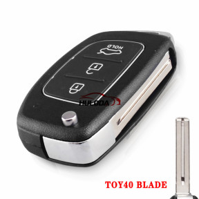 For Hyundai i20 3 button remote key with ID46 chip & 433mhz
