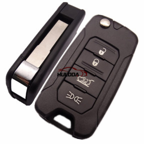 For Chrysler Jeep 4 button flip remote key blank