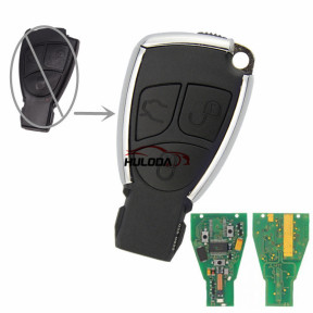 For Benz Modified Silver 3 button remote key 315MHz NEC Chip HU64 for benz 2005-2008 model