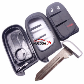 For Chrysler 2+1 button  remote key shell with blade