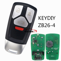 For  Audi style ZB26 4 button  smart remote key For KD900,URG200,mini KD and KD-X2 generate new keys ,For produce any model  remote