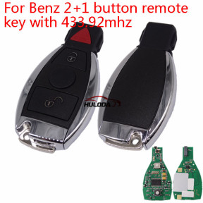 For  Benz 2+1 button remote  key with 433.92MHZ
