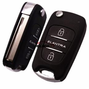 For Hyundai ELANTRA  3 button flip key blank