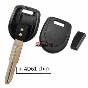 For Mitsubishi transponder Key with right blade 4D61 chip