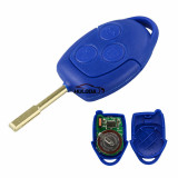 AfterMarket Ford Transit blue  3 button remote key   433MHz ASK 4D63 CHIP FCCID:6C1T 15K601 AG