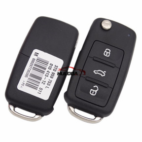 Original for VW 3 button remote key  with 433Mhz Model Number is 3TO959753L 3TO837202L