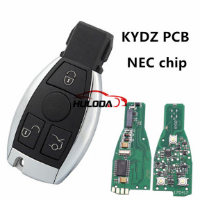For Benz NEC 3 button remote key  with 315mhz and 434mhz,please choose the frequency The PCB is KYDZ