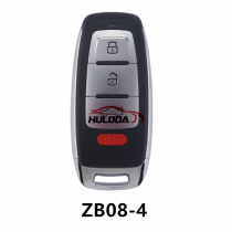 KEYDIY  ZB08-4 button  smart remote key For KD900,URG200,mini KD and KD-X2 generate new keys ,For produce any model  remote