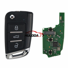 For VW style ZB15 3 button  smart remote key For KD900,URG200,mini KD and KD-X2 generate new keys ,For produce any model  remote
