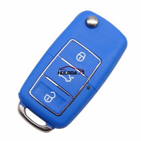 For VW 3 button  waterproof  remote key blank with Blue color,used for VW Seat ,Skoda, Jetta, Golf, Passat, Beetle, Polo, Bora, Octavia