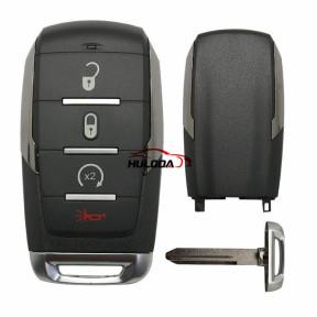 3+1 Button Remote Car Key Shell For Chrysler Sebring For Dodge Avenger Nitro For Jeep Smart Key Fob, Uncut Blade