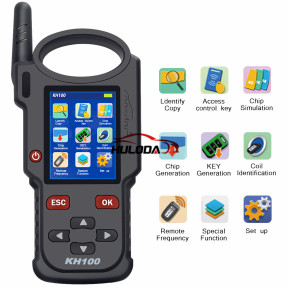 Lonsdor KH100 Hand-Held Remote Smart Key Programmer   able to access control key, simulate/ generate chip, generate remote (key), detect remote frequency, detect IMMO, unlock for Toyota smart key and etc.