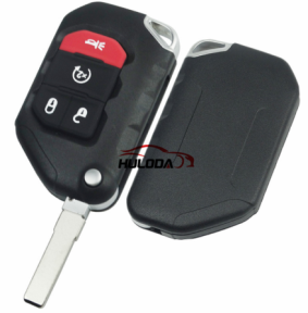 For Jeep Wrangler Remote key 3+1 Button Folding Remote Key SIP22 balde ASK 433MHz PCF7939M / HITAG AES / 4A CHIP FCC ID:OHT1130261 OE #:68416784AA