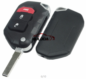 For Jeep Wrangler Remote key 2+1 Button Folding Remote Key SIP22 balde ASK 433MHz PCF7939M / HITAG AES / 4A CHIP FCC ID:OHT1130261 OE #:68416784AA