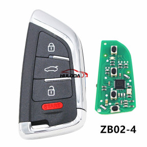 For BMW styleZB02 3+1 button remote key For KD300,KD900,URG200,mini KD and KD-X2 generate new keys ,For produce any model  remote