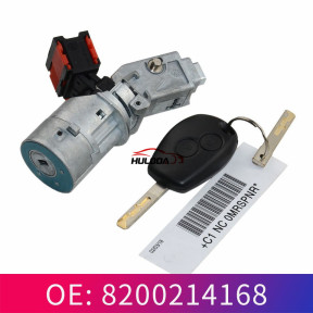 The car start switch is suitable for Renault ignition lock key lock core plug ignition device 8200214168