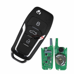 KEYDIY for ford style ZB12-3 button  smart remote key For KD900,URG200,mini KD and KD-X2 generate new keys ,For produce any model  remote