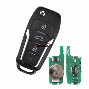 KEYDIY for ford style ZB12-4 button  smart remote key For KD900,URG200,mini KD and KD-X2 generate new keys ,For produce any model  remote