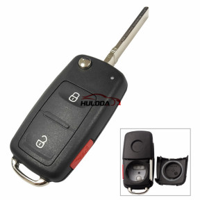 NEW Model for VW 2+1 button key blank after 2011 202AD