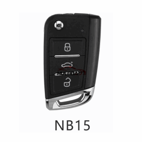 KEYDIY for VW style NB15-3 button  smart remote key For KD900,URG200,mini KD and KD-X2 generate new keys ,For produce any model  remote