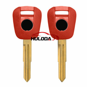 Honda Motorcycle key blank with right blade (red colour)