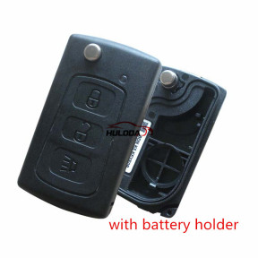 For Great Wall 3 button folding car key shell ,with battery holder