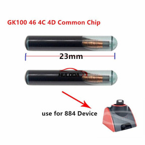 New Glass GK100 46 4C 4D Common Chip use for keyline 884 Device (Can be Written 10 times)