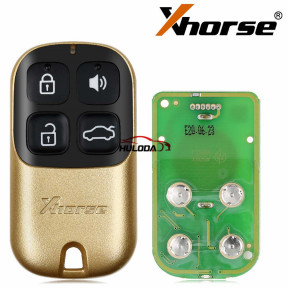 Xhorse XKXH02EN Universal Remote Key 4 Buttons Golden Style English Version for VVDI Key Tool