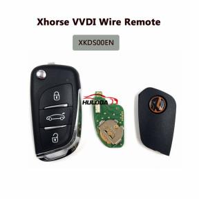 Xhorse VVDI Remote Key XKDS00EN ,DS Type Wire Remote Key 3 button Universal Remote Key