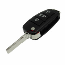 For original Audi 3 button remote key with ID48 chip 434mhz  HLO DE 8X0837220D Hella 5F A 010 659 70  204Y11000400