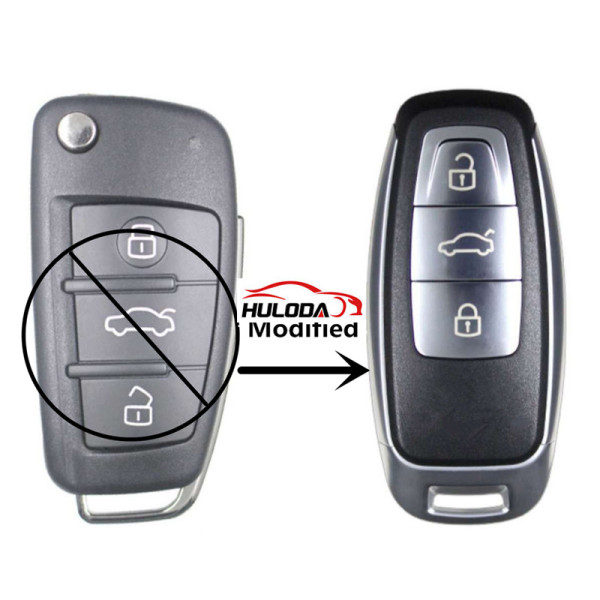Modified version For Audi 3 button remote key shell case