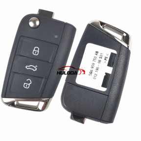 Original for VW 3 button keyless go remote key with 434mhz