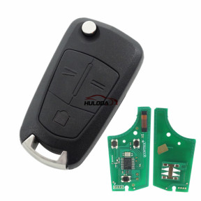 For Opel 3 button flip remote key  with 434mhz with PCF7946 chip  Genuine Part number:13189118