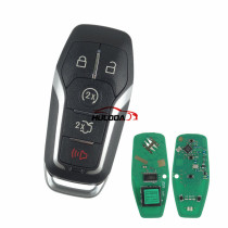 Aftermarket For Ford 4+1 button  keyless remote key with 868mhz  (Hitag Pro)