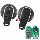 For BMW mini cooper 4 button keyless remote key with 433mhz with PCF7953P Chip Aftermarket PCB and genuine cover