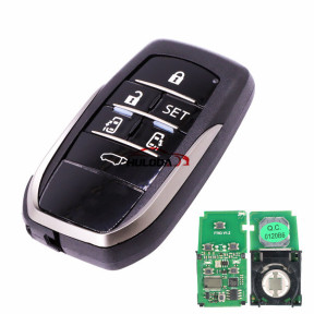 For Toyota Smart key FOB  Alphard Vellfire 6 button remote key with 315MHZ                    with 8A chip(Tiris DST AES)  FT03-0120B6   PSN:10093778