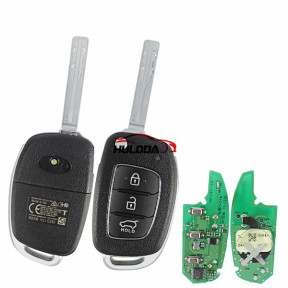 Original For Hyundai 3 button remote key with 434mhz with 4D60 Chip  CMITT ID;2014DJ5553 95430-D3100 WPCID;ETA-364-2014-ERLO NCC;CCAL14LP1630T4 ANATEL;4110-14-4902