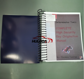 Determinator Security key origination manuals plus the  high security key quick reference Guide (The instruction of the car lock structure, how to fit and unfit the car lock)