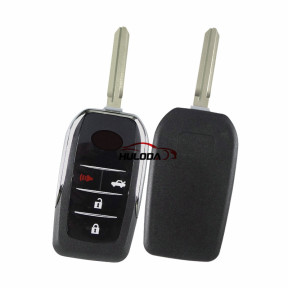 For Toyota 3+1 Buttons remote key for Corolla RAV4  Modified Flip Folding Remote Blank Key Shell with TOY43  key blade New Arrival 2019