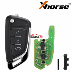 XHORSE XKKF03EN Universal Remote Car Key Fob Knife Style with 3 Buttons for VVDI Key Tool