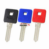 Harley motor key shell with right blade(red colour)