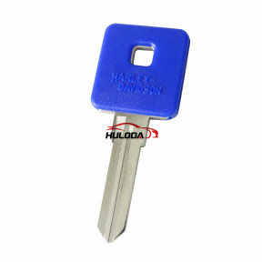 Harley motor key shell with right blade(blue colour)